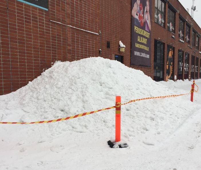 Lumenpudotus rakennustyön valvojan silmin Helsingissä